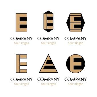 Flat design e logo collection