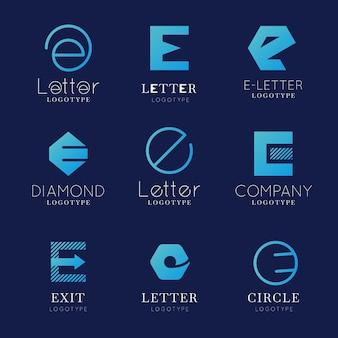 フラットデザインeロゴセット