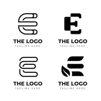 Flat design e logo set