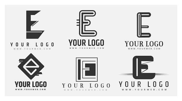 Flat design e logo templates collection