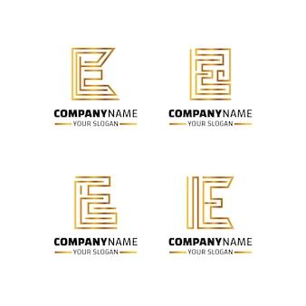 Плоский дизайн электронной коллекции шаблонов логотипов