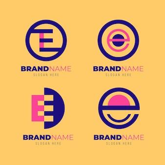 Flat design e logo templates set