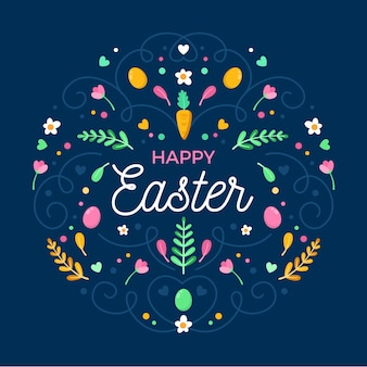 Flat design easter day concept