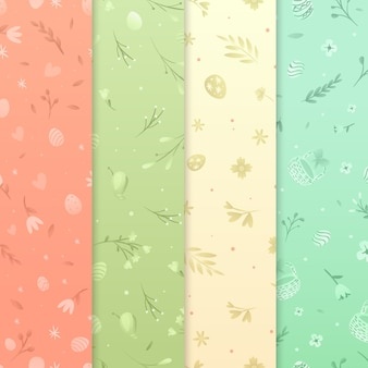 Flat design easter day pattern