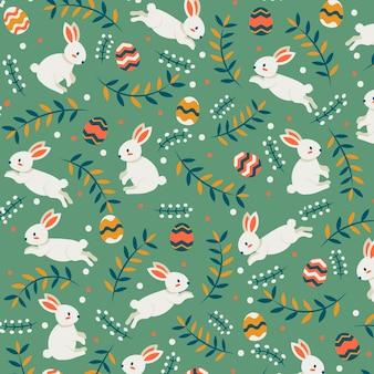 Flat design easter pattern