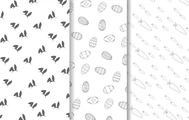 평면 디자인 부활절 패턴