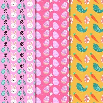 Flat design easter seamless pattern with eggs