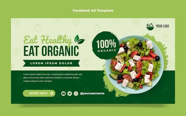Flat design eat organic food facebook