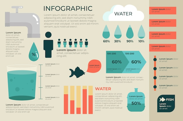 Flat design ecology infographic