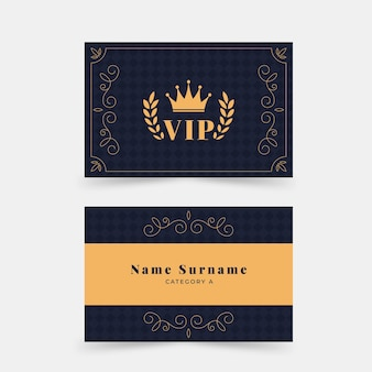 フラットなデザインのエレガントなvipカード