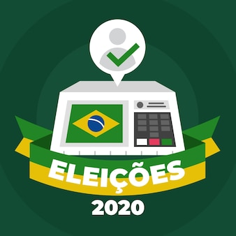 Flat design eleições 2020 background
