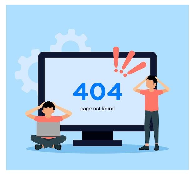 Flat design of error 404 page