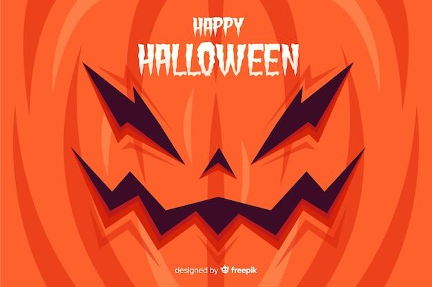 Flat design of evil halloween background