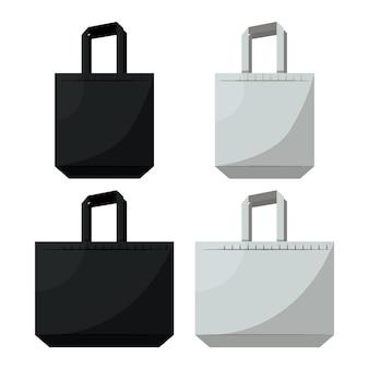 Flat design fabric bag collection