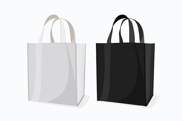 フラットデザインのファブリックバッグコレクション
