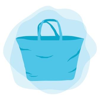 フラットデザインのファブリックバッグ