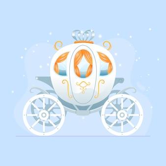 Плоский дизайн сказочной коляски