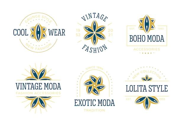 フラットデザインのファッションアクセサリーのロゴコレクション