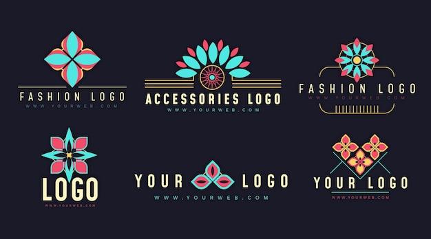 평면 디자인 패션 액세서리 로고 컬렉션