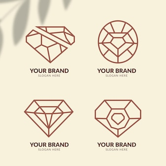 Плоский дизайн модных аксессуаров с логотипом
