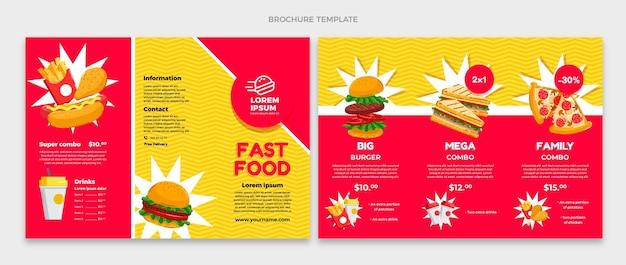 Brochure di fast food design piatto