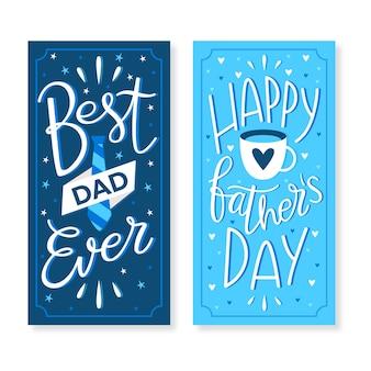 Banner design festa del papà design piatto