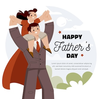Flat design father's day celebration