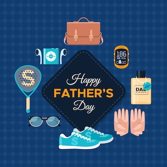 Flat design father's day objects