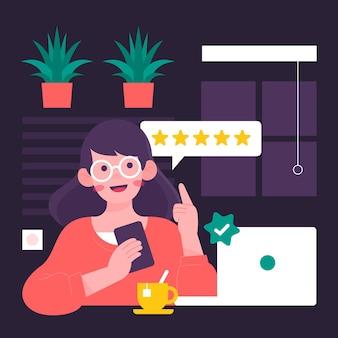 Flat design feedback concept