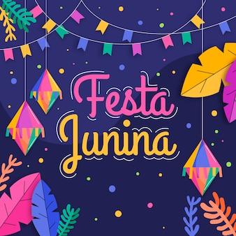 Flat design festa junina concept
