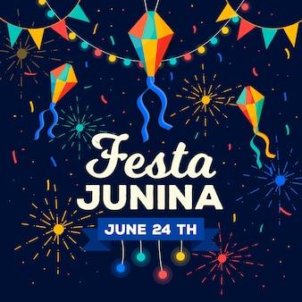 Flat design festa junina
