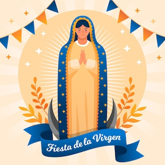 Design piatto fiesta de la virgen