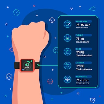 Flat design fitness tracker