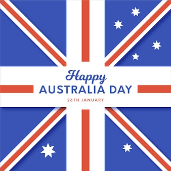 Flat design flag of australia day