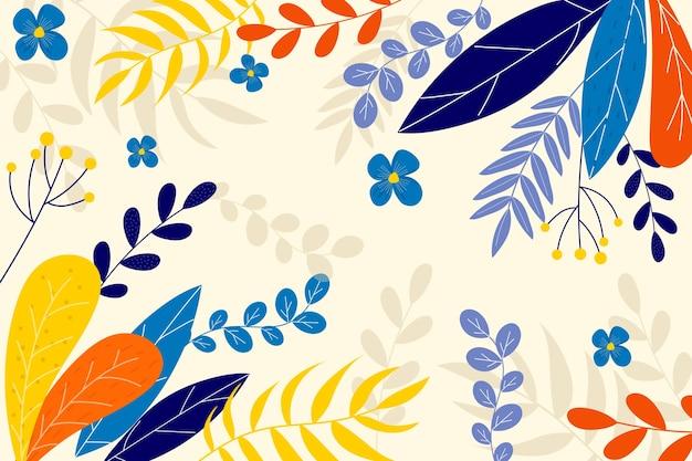 フラットなデザインの花の背景デザイン