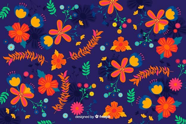 Flat design floral background