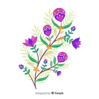 Flat design floral branch