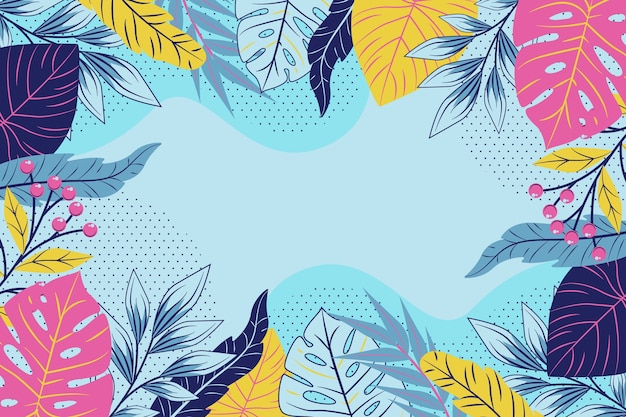 Flat design floral theme for background