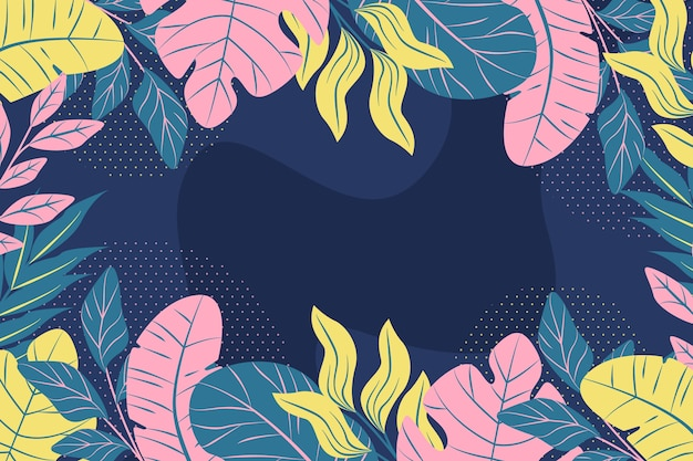 Flat design floral theme for wallpaper