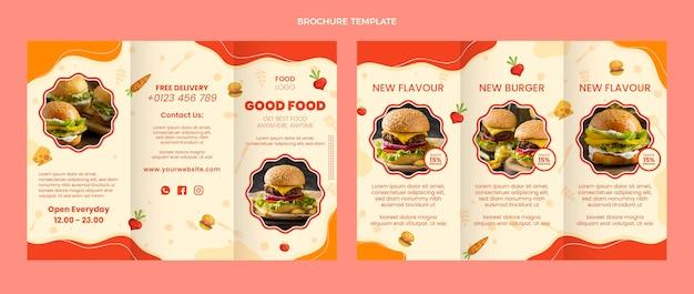 Modello di brochure per alimenti dal design piatto