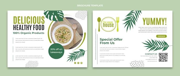 フラットデザインの食品パンフレット