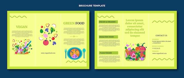 Brochure alimentare dal design piatto