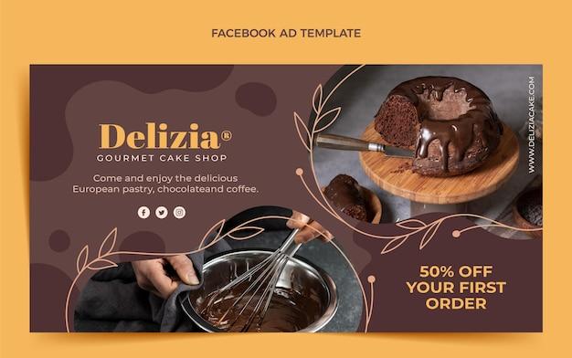 Flat design food facebook ad