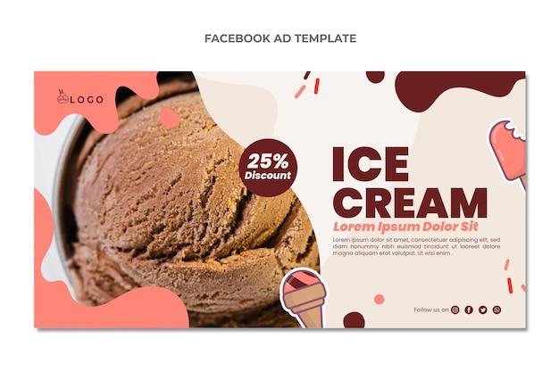Flat design of food facebook ad
