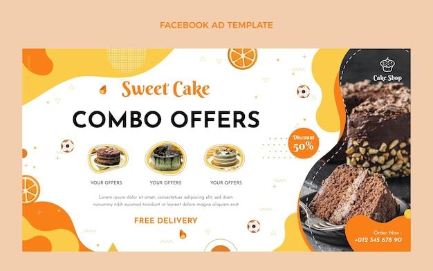 フラットデザインフードフェイスブック広告