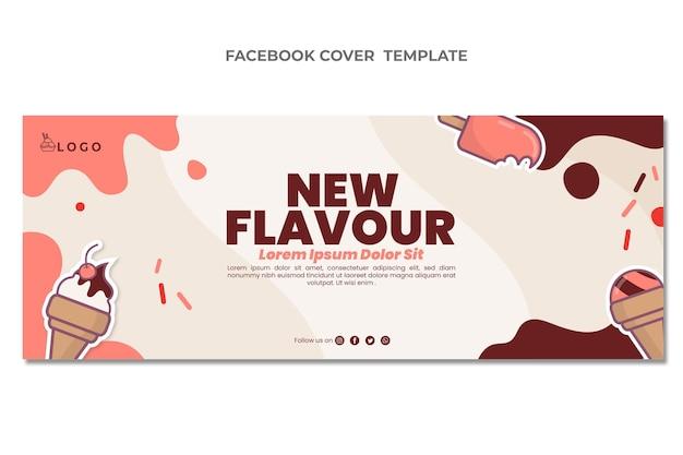Flat design of food facebook cover