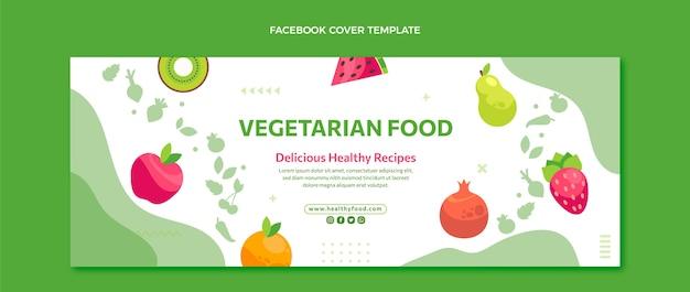Copertina facebook cibo design piatto