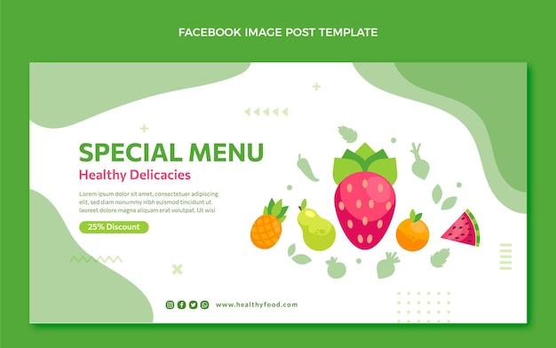 Плоский дизайн еды в facebook