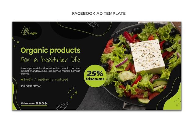 Flat design food facebook template