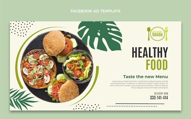 Плоский дизайн шаблона еды facebook